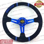 MOMO(r) 14″ Deep Dish Suede Steering Wheel Blue