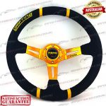 MOMO(r) 14″ Deep Dish Suede Steering Wheel Gold